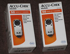 100 test strips x2 Accu Chek (mobile In 1 Cassette)Brand New/Sealed Exp 03/2018