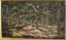 """Fine Antique 19th C. Oil Painting 'Morning in the Pines'  c. 1870  19"""" x 12"""""""