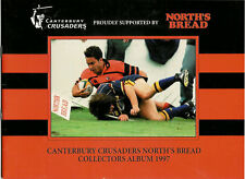 "NORTH'S BREAD ""Canterbury Crusaders"" 1997 Set of 16 Rugby Cards & Official Album"