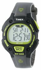 $55 TIMEX T5K692JV IRONMAN CLASSIC 30 STOP WATCH BLACK GRAY GREEN WATERPROOF NEW