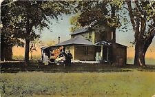 B58/ Blennerhassett Island Parkersburg West Virginia WV Postcard 1912 Home Peopl