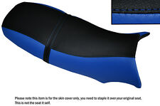 BLACK & R BLUE CUSTOM FITS BUELL BLAST POINTY STYLE DUAL LEATHER SEAT COVER