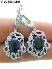 Turkish Ottoman 925 Sterling Silver Jewelry El Sultan Onyx Earrings R2705
