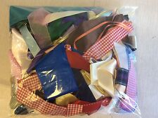 ROLL END BAG of MIXED RIBBON -POT LUCK BAG - mixed colours lengths and widths