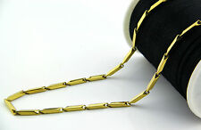Gold 316L Men's 3mm 20 inches Stainless Steel Necklace Titanium Necklace Chain