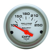 """Auto Meter 4349 Ultra Lite Differential Temp 2-1/16"""" Gauge Electric 100-250 F"""