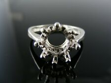 5609  RING SETTING STERLING SILVER, SIZE 8.5, 9 MM ROUND STONE