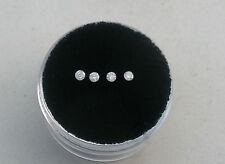 4 White diamond loose rounds  1.8mm each