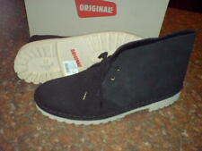NEW CLARKS ORIGINAL MEN ** DESERT BOOT  ** BLACK SUEDE**  UK 8 F
