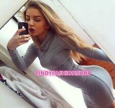 New Women Vintage Bandage Long Sleeve Turtleneck Club Body con Evening Dress