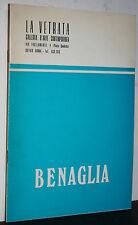 Enrico Benaglia catalogo 1971 mostra personale galleria la Vetrata Roma