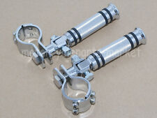 "Chrome 1.25"" 1 1/4"" Highway Foot Pegs For Harley Touring Road King Street Glide"