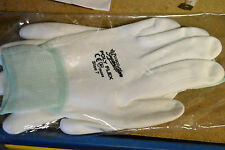 1  Pair Polyco PolyFlex Industrial white Nylon PU Palm Coating Work Gloves size7