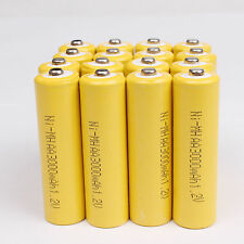 16 x AA 3000mAh 1.2 V Ni-MH rechargeable battery For cell MP3 RC Toys - Yellow