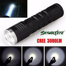 3000 Lumens 3 Modes CREE XML T6 LED 14500/AA Flashlight Torch Lamp Powerful