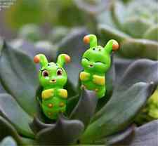 2PCS Cute caterpillar Miniature Bonsai Fairy Garden Landscape DIY Decoration