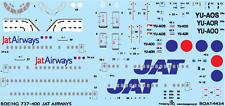 BOEING 737-400 JAT AIRWAYS #14434   1/144 BOA DECAL SET