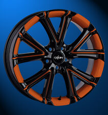 Oxigin 15 Vtwo 7.5x17 5x112 ET 35 foil orange Felgenbett u. Speichen - Alufelge