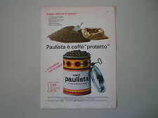 advertising Pubblicità 1965 CAFFE' CAFE' PAULISTA