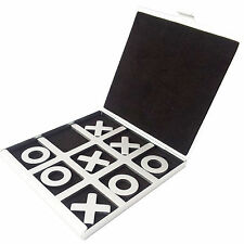 Tic Tac Toe Game XO Games Noughts and Crosses Board Aluminum Folding XMAS GIFT