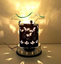 Electric Fragrance Oil/Tart Touch Lamp Warmer - Dragonflies - Black and Silver
