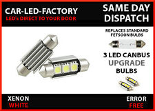 BMW E46 COUPE & M3 1999-07 CANBUS ERROR FREE NUMBER PLATE LED FESTOON 36mm C5W