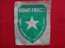 Vietnam War Cloth Print Patch ARVN Nung Security Platoon PHU DINH NUNG FORCES