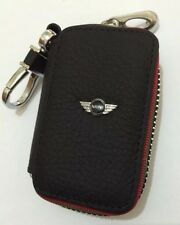 Mini Cooper Genuine Leather Key Cover Case Holder Ring Chain Fob !