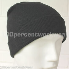 Panoply JURA GREY Knitted Beanie Hat Work Wear Winter Warm Acrylic Adult Size