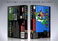SUPER MARIO WORLD. NTSC. Box/Case. Super Nintendo. BOX + COVER. (NO GAME).