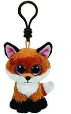 """TY Beanie Babies Boo's Slick Fox Key Clip 3"""" Stuffed Collectible Plush Toy NEW"""