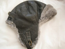 CROWNCAP NATHANIEL COLE LEATHER SHEARED AVIATOR HAT- LARGE-NWT-AUTHENTIC