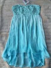 BNWT Forever New Chloe Flower Applique Dress Blue Radiance Size 14