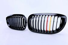 Gloss Black Germany Color Front Kidney Grilles For BMW E46 2DR COUPE 2004-2006