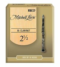 Rico Mitchell Lurie Bb Clarinet Reeds #2.5 (10-Pack) NEW