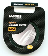 Jacobs 52mm ND4 Super Slim Neutral Density High Quality Glass Camera Filter - UK