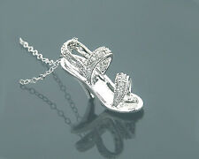 Anhänger Stiletto Goldschmuck Diamanten 585er Weißgold 0,12 Karat Wesselton Weiß