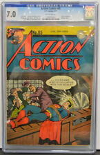 ACTION COMICS #85 CGC 7.0 Superman 1945 Toyman App & Bondage Cover 4th Highest