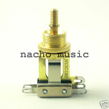 Switchcraft 3-Way Gold-Tone Short Toggle Switch
