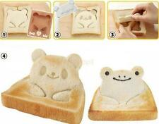 Set of Panda Shape Frog Toast Sandwich Onigiri Bento Maker Bread Mold Cutter DIY