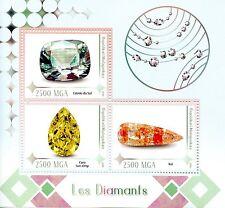 MADAGASCAR 2016 Gomma integra, non linguellato Diamanti Koi estrla DO sul 3v M/S Gioielli Gioielleria FRANCOBOLLI