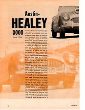 1960 AUSTIN-HEALEY 3000 ~ ORIGINAL ROAD 6-PAGE TEST / ARTICLE / AD