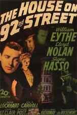 A2 Box Canvas 42x60cm Film Noir Poster  House on 92nd Street The 01