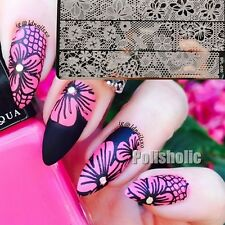 BORN PRETTY Nail Art Stamp Template Image Plate Hollow Lace BP-L030 12.5 x 6.5cm