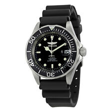 Invicta Pro Diver Automatic Steel Black Rubber Mens Watch 9110