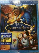 Disney's Beauty and the Beast (Blu-ray/DVD, 2010, 2-Disc Set, Diamond Edition)