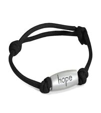 Relay for Life Cancer Awareness Hope Adjustable Black Nylon Bracelet New