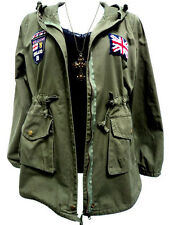 JACKET COAT CLOTHING GREEN ARMY MILITARY TRENCH PARKA JUMPER HOODIE HUNTER WOMEN