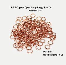 CHAIN MAILL 18GA WIRE  5 MM O/D 700 pcs. 2 OZ GENUINE COPPER OPEN JUMP RING