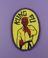 Original 1970s TV Show KUNG FU Embroidered Sew On Cloth Patch From Unused Stock